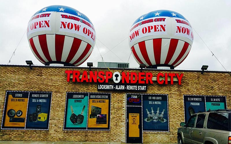 Transponder City retail location